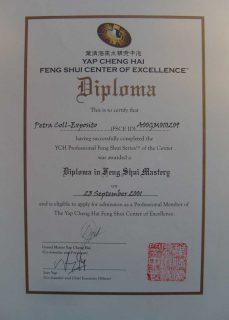Feng Shui Ausbildung Diplom von Petra Coll Exposito